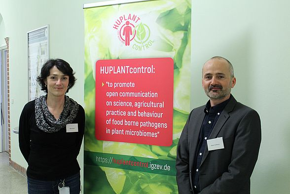 Dr. Rita Grosch (Chair of the COST-Action, Leibniz Institute of Vegetable and Ornamental Crops Großbeeren, Germany) and Dr. Adam Schikora (Leader WP 1, Julius Kühn Institute, Braunschweig, GermanyI)