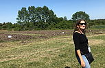 Prof. Smalla in front of field trials at INIA Research Station Las Brujas, Uruguay